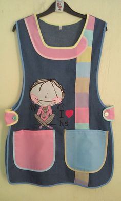 Sewing Tools, Sewing Tutorials, Sewing Projects, Sewing Patterns, Apron Tutorial, Tutorial Sewing, Teacher Apron, Kids Vest, Childrens Aprons