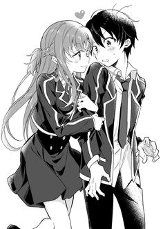 Yuuki Asuna & Kirigaya Kazuto - By Sword Art Online ღ Manga Anime, Film Anime, Couple Manga, Anime Love Couple, Online Anime, Online Art, Sword Art Online Wallpaper, Kirito Asuna, Sword Art Online Kirito