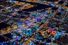 Las Vegas at night from 8800 feet by Vincent Laforet.