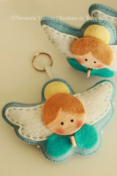 better homes and gardens felt animal ornaments with sequins Angel Crafts, Christmas Projects, Felt Crafts, Holiday Crafts, Holiday Decor, Felt Christmas Decorations, Felt Christmas Ornaments, Christmas Tree, Angel Ornaments
