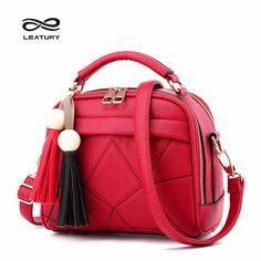 Women's Fashion Vintage Tassel Leather Shoulder Bag