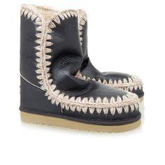 Mou Eskimo Short Shearling Black - MOU #mou #eskimo #boots #fashion
