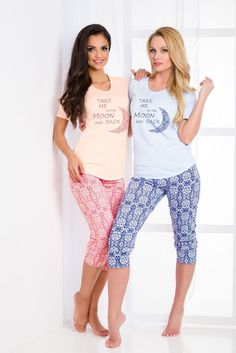 2c3eae0d8e Pyjamas for women Taro Malina 2082 N is made from cotton. Pajamas with short  sleeves.