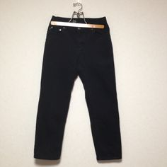 Lauren by Ralph Lauren Black Straight Denim PT Size 4P