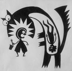 Ejercicio a contrarreloj. #redridinghood #ink #sketch #drawing #grimmbrothers