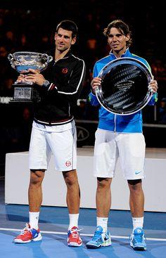Nole and Rafa.  Australian Open, January 2012.  #tennis