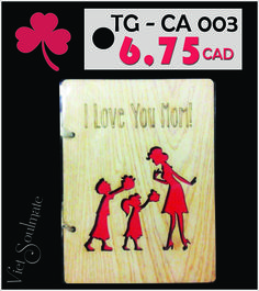 MOM - there's just no one like her. Make sure your Mom knows how incredibly wonderful she is with Mother's day wooden cards from VIETSOULMATE.