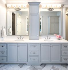 Farmhouse kitchen cabinets Powder Rooms & Master Baths – Grace Hill Design How To Choose The Right C Bathroom Renos, Bathroom Layout, Bathroom Renovations, Master Bath Layout, Bathroom Ideas, Budget Bathroom, Design Bathroom, Bath Ideas, Diy Ideas