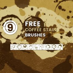 Dimitar Tsankov has provided us with 9 high-quality free coffee stain brushes for Adobe Photoshop. They are great for applying special effects to photos, for use in abstract design, texturing and so much more