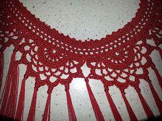 A ratitos perdidos: flecos para vestido de gitana Crochet Belt, Crochet Collar, Crochet Poncho, Knit Or Crochet, Crochet Necklace, Knifty Knitter, Knitting, Lace Patterns, Crochet Patterns