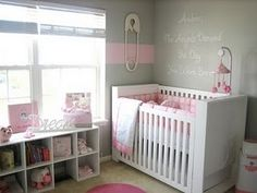 I'm starting to think a grey and pink nursery would be cute for a girl (and not too cutesy).