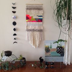 Woven wall hanging weaving by Maryanne Moodie  www.maryannemoodie.com
