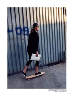 Skateboard in style.
