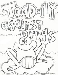 red ribbon week free coloring pages and printables for your classrooms say no to drugs