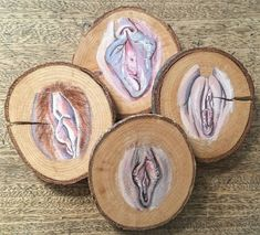 Your place to buy and sell all things handmade Wood Coasters, Drink Coasters, Arte Com Grey's Anatomy, Vagina, Sexy Drawings, Sacred Feminine, Nature Decor, Dremel, Girl Power