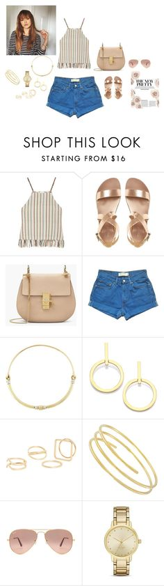 """""""beauty"""" by chisomnatalie on Polyvore featuring beauty, Miguelina, Levi's, Pamela Love, Vita Fede, MANGO, Ray-Ban and Kate Spade"""