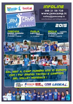 Volley curiosità: porta la tua squadra al jamcamp - Basket e Volley in rete