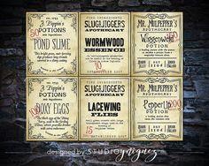 Harry Potter Potion Labels Printable Harry Potter by StudioYniguez