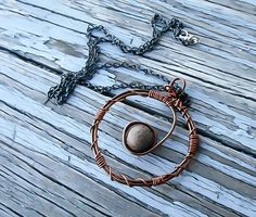 Copper Layered Necklace - Wire wrapped wiccan necklace - Pagan Necklace - Witch Necklace - Boho Necklace - Gypsy Necklace - Costume Jewelry
