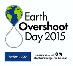 Earth Overshoot Day 2015 - Global Footprint Network: This year Earth Overshoot Day falls on August 13, as carbon emissions continue pushing the Ecological Footprint further above the planet's annual budget.