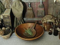 Antique Primitive Wooden Butter Paddle