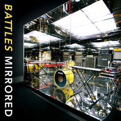 """Battles """"Mirrored"""" LP (Warp Records, Photography by Timothy Saccenti; Designed by Dave Konopka. One of the best sleeves ever. Greatest Album Covers, Music Album Covers, Great Albums, Top Albums, Cover Art, Vinyl Records, Battle, Mirror, History"""