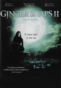 Ginger Snaps - Movie Poster - 11 x 17 Inch x Best Movie Posters, Horror Movie Posters, Movie Poster Art, Horror Films, Zombie Movies, Halloween Movies, Scary Movies, Ginger Snaps Movie, Katharine Isabelle