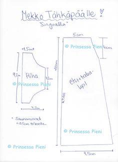 Prinsessapieni seikkailee käsityömaailmassa: Mekko Tähkäpäälle + Kaava