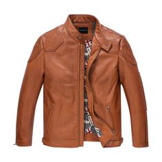 >> Click to Buy << Leather Jacket Men  Casual Outfit Coat  Men 100% Genuine Leather Outerwear  Fashion Jacket TJ36 #Affiliate