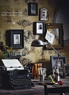 Vintage Decor Rustic Office - - If you have been thinking of creating some Vintage Vignettes in your home then you are in the right place for some wonderful inspiration!
