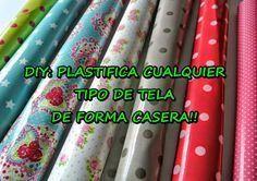 Descubre cómo plastificar tela de forma casera. La puedes usar para elaborar, manteles, carteritas, neceseres...
