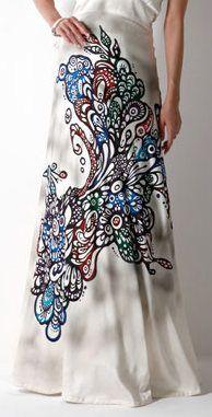 ryûkyû motif long dress http://yokang-wedding.jp/dress/