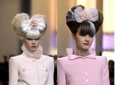 crazy hair, hairstyles, runway hair, chanel runway, ears