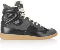 Maison Martin Margiela Suede, leather and mesh sneakers on shopstyle.com