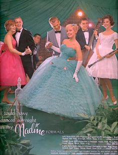 """Vintage Prom Dress Advertisement in Seventeen Magazine circa 1961, """"I Could Have Danced All Night"""""""