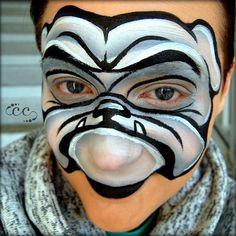 Bulldog Face Paint Tutorial by Artist Ashlie Alvey