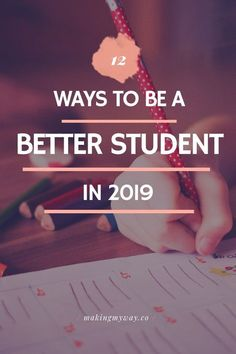 Here are 12 ways to be a better student in Many college students set acade.Here are 12 ways to be a better student in Many college students set academic resolutions, so here are tips for being a better student. Good Student, Student Life, Scholarships For College, College Students, Study Techniques, College Fun, Education College, College Basketball, College Study Tips