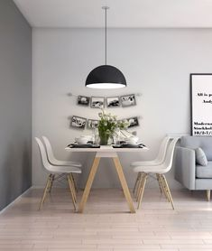 Below are the Scandinavian Dining Room Design Ideas. This post about Scandinavian Dining Room Design Ideas was posted under the … Nordic Living Room, Small Living Rooms, Interior Design Living Room, Small Dining, Kitchen Living, Dining Living Room Combo, Kitchen Grey, Kitchen Country, Simple Living Room