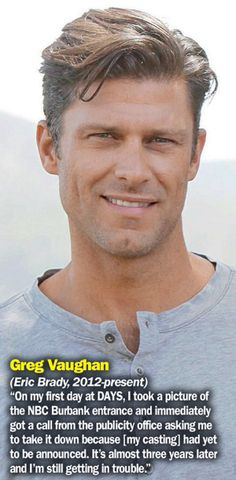 From a Soap Digest special issue Soap Opera Stars, Soap Stars, Days Of Our Lives, Day Of My Life, Greg Vaughan, Alison Sweeney, Line Love, Tv Soap, Beauty