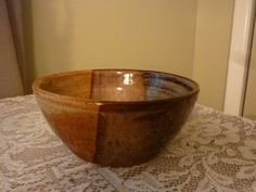 Handmade Pottery Stoneware Bowl with by PotteryLaceNautical