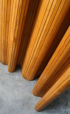 scandinaviancollectors:  ALVAR AALTO, flexible pine wood screen, model nr.100. Early version, originally designed 1935-1936 and produced by Artek Oy, Finland, company which was co-owned by Aalto.
