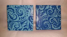 Check out this item in my Etsy shop https://www.etsy.com/listing/286787191/set-of-blue-coasters