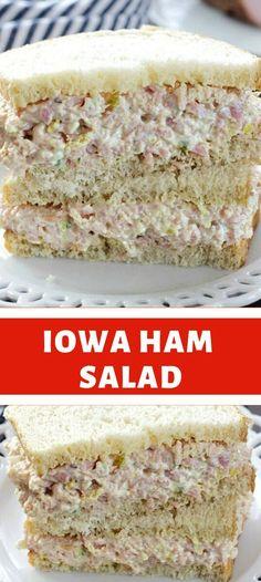 Sandwich Spread, Soup And Sandwich, Sandwich Fillings, Sandwich Recipes, Ham Salad Recipes, Dessert Recipes, Lithuanian Recipes, Savory Waffles, Leftover Ham Recipes