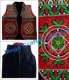 garba costume wear navratri embroidery work koti, dandiya costume wear navratri embroidery work koti, beautiful navratri wear embroidery work koti,
