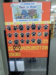"""Counting down the days 'til Summer Reading Program 2014 """"Paws to Read!"""" at Los Alamitos – Rossmoor Library."""