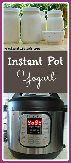 Instant Pot yogurt is hands-down the easiest homemade yogurt I've ever made! Click here to learn how to make your own yogurt in the Instant Pot.