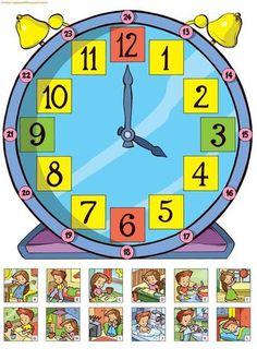 English Activities, Time Activities, Preschool Worksheets, Preschool Activities, Primary School, Pre School, Kids Education, Special Education, Math Clock