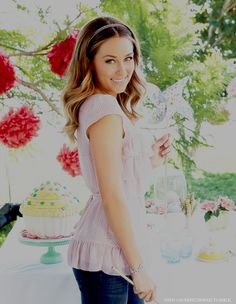 Lauren Conrad. The blouse is romantic and flowing...<3