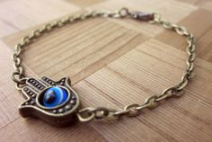 Hamsa Bracelet Evil Eye Jewelry Hamsa  by DiscoLemonadeDesigns, $6.99