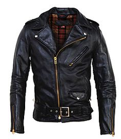 Schott NYC - Men's Vintaged Horsehide Perfecto Asymmetrical Motorcycle Jacket